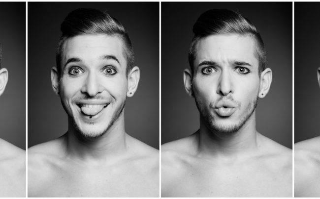 portrait noir blanc homme photographe genève suisse maquilleuse maquillage séance photo